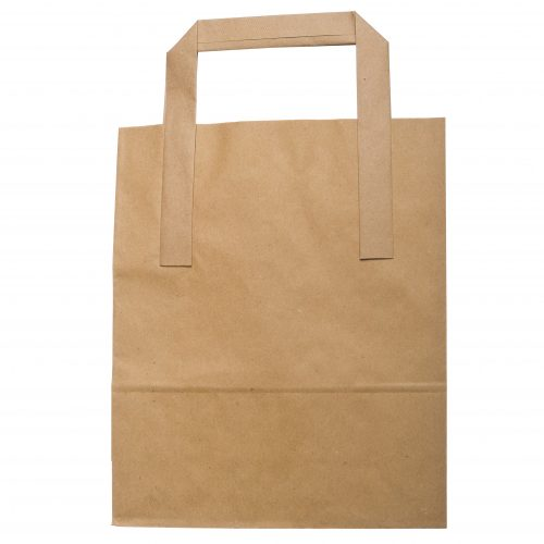 Handled Paper Bags White and Brown Various Sizes